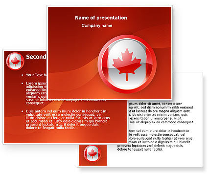 canada sign powerpoint template. Black Bedroom Furniture Sets. Home Design Ideas