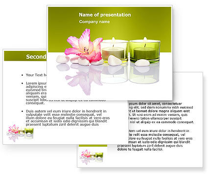 SPA Treatment PowerPoint Template - PoweredTemplate.com ...