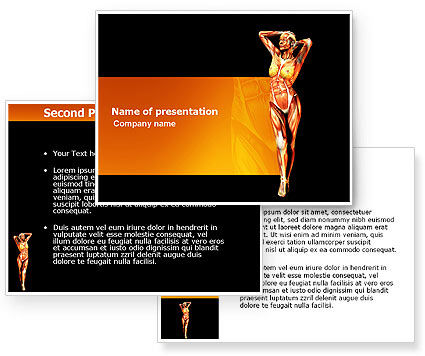 Female Body Anatomy PowerPoint Template #03418
