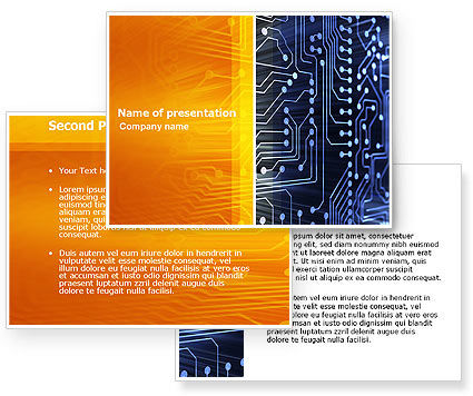 Circuit Board PowerPoint Template #03422