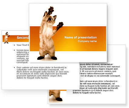 Kitten PowerPoint Template #03459