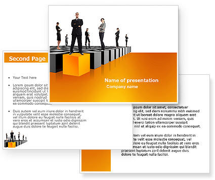 Leadership Training Progress PowerPoint Template #03542