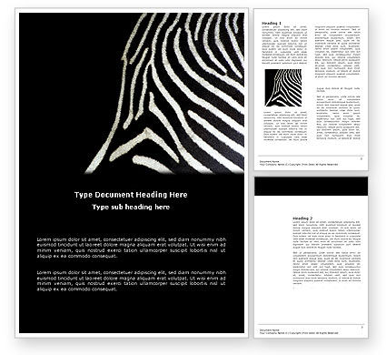 Stripes Word Template #03564