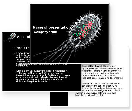 Bacteria Cell PowerPoint Template #03573