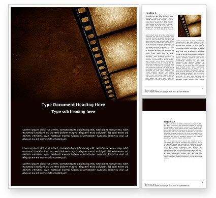 Movie strip postcard template in microsoft word adobe for Movie brochure template