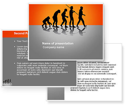 Human Evolution PowerPoint Template #03694