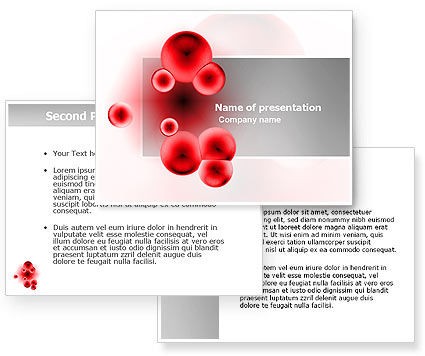 Erythrocytes PowerPoint Template #03708