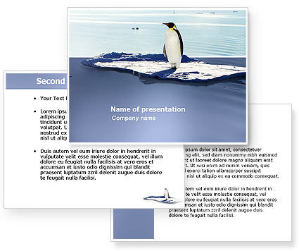 Penguin PowerPoint Template #03751