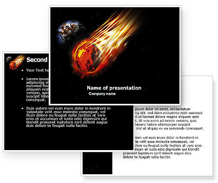 Free Comet PowerPoint Template #03783