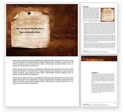 Old Paper Theme Word Template #03789