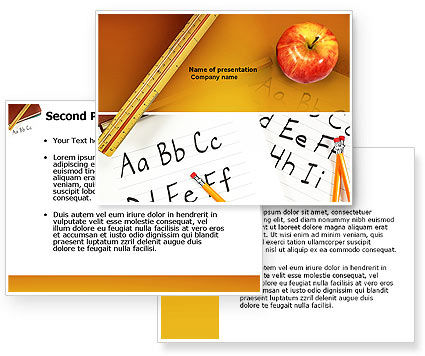 Elementary School PowerPoint Template #03795
