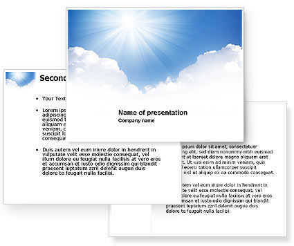 Heaven PowerPoint Template #03799