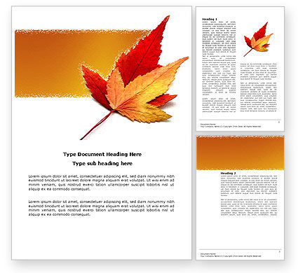 Autumn Foliage Word Template #03821
