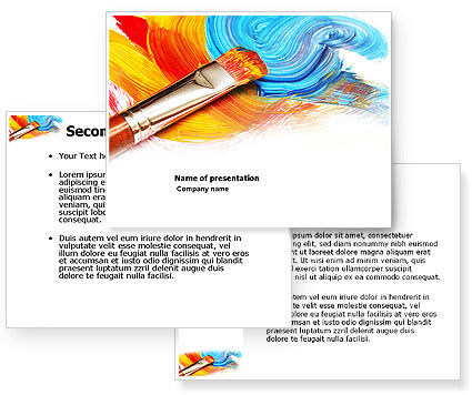 Oil painting powerpoint template for Oil painting templates