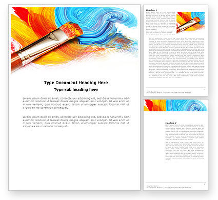 Oil painting powerpoint template backgrounds 03873 for Oil painting templates