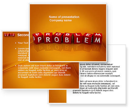 Problem PowerPoint Template #03887