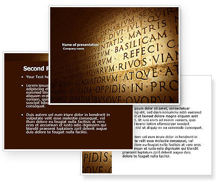 Latin PowerPoint Template #03950