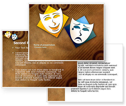Drama PowerPoint Template #03957