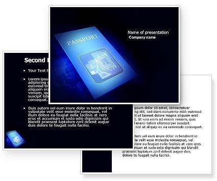 Passport PowerPoint Template #03999