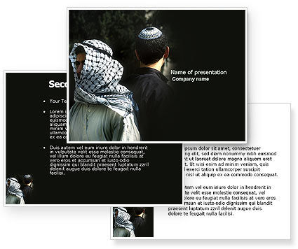 Arab-Israeli Conflict PowerPoint Template #04064