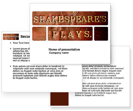shakespeare powerpoint template poweredtemplatecom 3