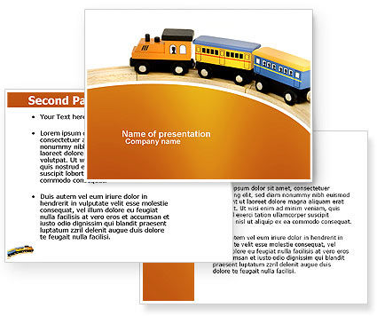 toy train powerpoint template poweredtemplatecom 3
