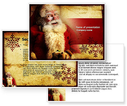 Free Santa Clause PowerPoint Template #04212
