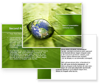 Water Drop PowerPoint Template #04223