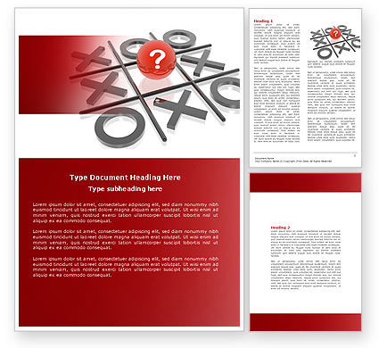 Tic-tac-toe Word Template #04226
