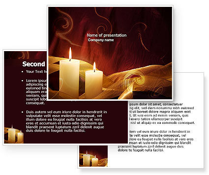 Candle Background Powerpoint Candle Light Powerpoint