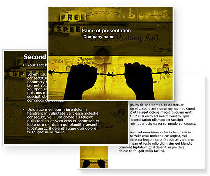 Human Rights PowerPoint Template #04254