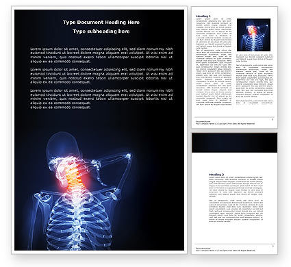 Neck Pain Word Template #04292