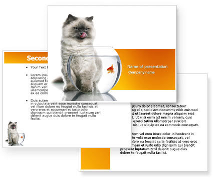 Powerpoint Background Cats Cat And Fish Powerpoint