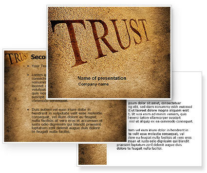 Trust PowerPoint Template #04364