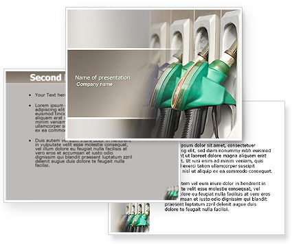 Gasoline PowerPoint Template #04391