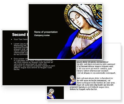 Virgin Mary PowerPoint Template #04411