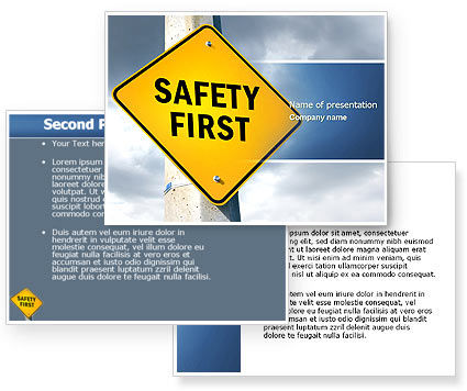safety first powerpoint template poweredtemplatecom 3