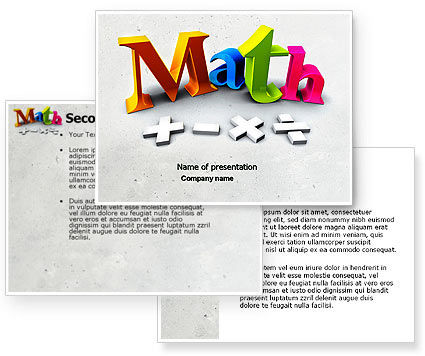Math Addition PowerPoint Template #04501
