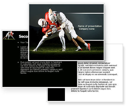 American Football New Orleans Saints PowerPoint Template #04572
