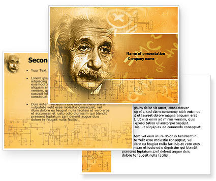 Einstein PowerPoint Template #04631