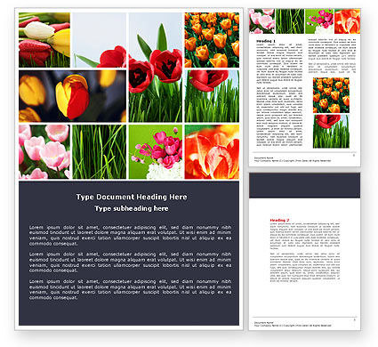 Tulips Word Template #04690