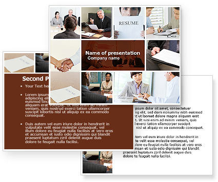 job interview powerpoint template. Black Bedroom Furniture Sets. Home Design Ideas
