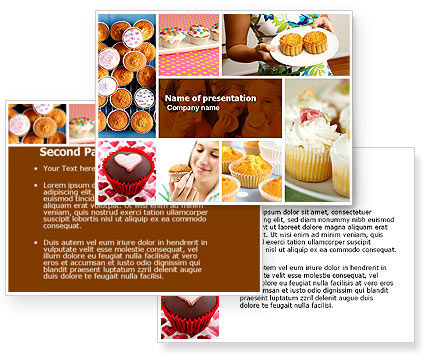 cupcakes powerpoint template 04823 3 backgrounds 3 masters 20 slides. Black Bedroom Furniture Sets. Home Design Ideas