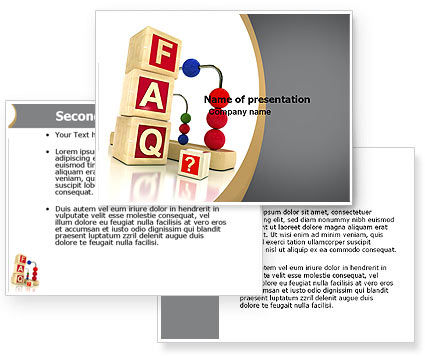 FAQ PowerPoint Template #04852