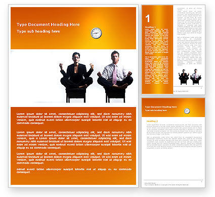 Working Hours Word Template #04915