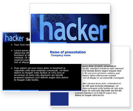 Hacker PowerPoint Template #04973