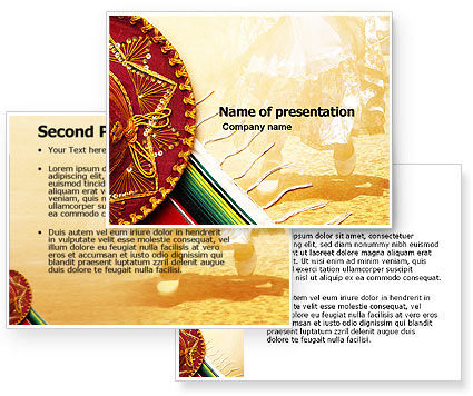 Cinco de mayo powerpoint template for Mexican themed powerpoint template