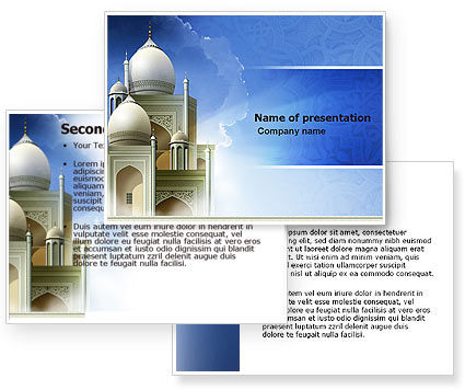 Islamic Architecture PowerPoint Template #05013