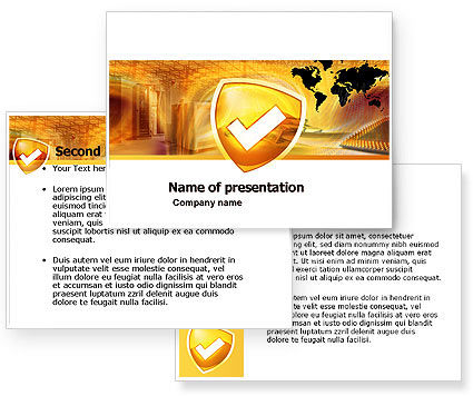 Shield PowerPoint Template #05033