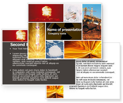 Radiation PowerPoint Template #05051
